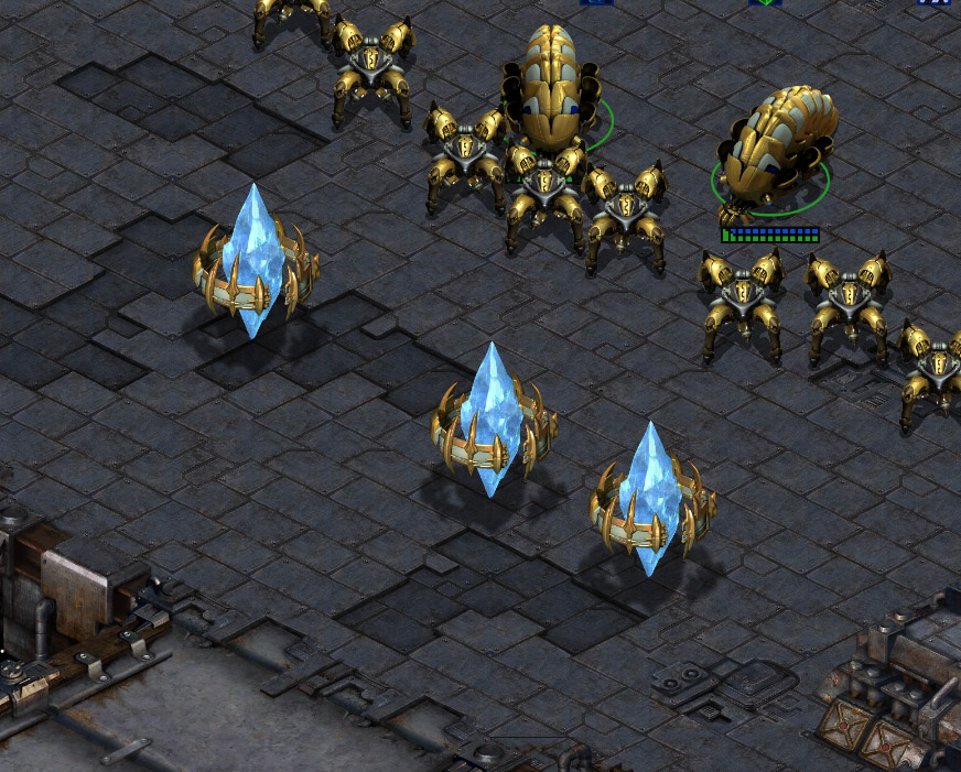 Top right location on Circuit Breakers: Buying the time with pylons, just one pylon is enough to change the course of the battle.